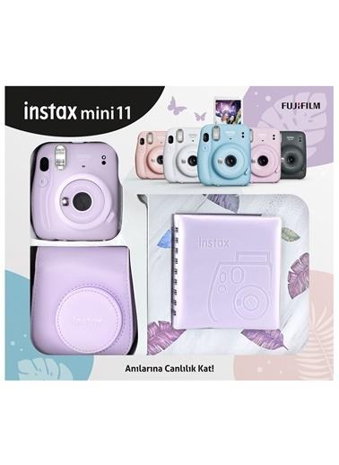 Fujifilm Instax mini 11 Kare Albümlü Lila Kit Lila
